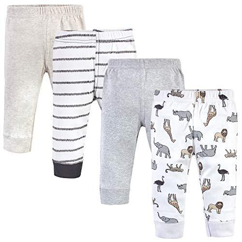 Hudson Baby Unisex Baby Cotton Pants and Leggings, Neutral Safari, 6-9 Months