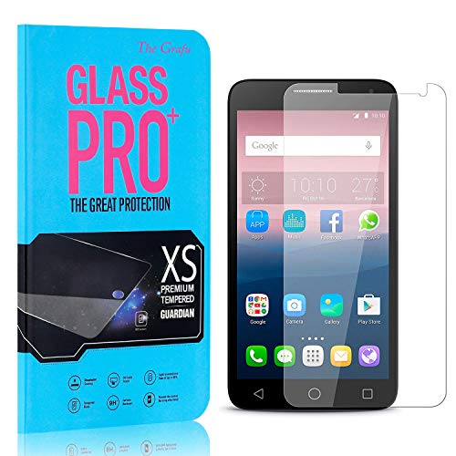 Screen Protector Compatible with Huawei Ascend Y550, The Grafu Anti Fingerprint Tempered Glass Screen Protector, HD Screen Protector for Huawei Ascend Y550, 3 Pack