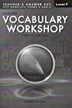 Vocabulary Workshop: Enriched Edition, Teacher's Answer Key Level F (Grade 11) Test Booklets: Form A and B