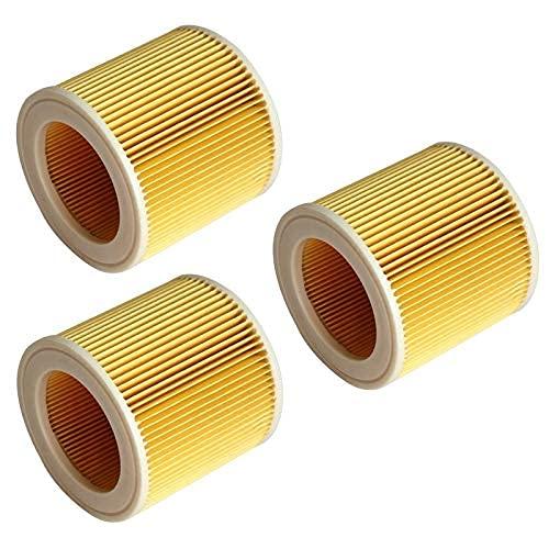 Home Cleaning 3 Piezas de repuesto de aire para aspiradora Karcher accesorios de filtro HEPA filtro WD2250 WD3.200 MV2 MV3 (color: 2 piezas) piezas de repuesto de filtro (color: 3 piezas)