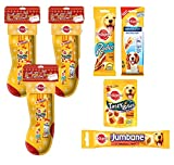Pedigree Christmas Stocking with Treats x3 For Multi Dog Households