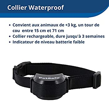 PetSafe, Clôture Anti-fugue Sans Fil Portable et électrique pour Chien Stay & Play avec Collier Anti-Fugue, Imperméable, Rechargeable, Portée 64 m de diamètre