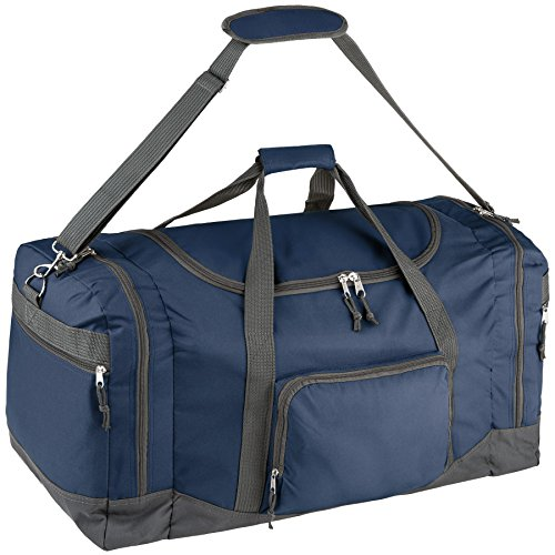 TecTake Bolsa de Deporte Bolso de Viaje con Correas de Transporte Equipaje 70x35x35cm (Azul | no. 402373)