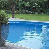 Aqualux Liner Bleu UNI ACCROCHAGE Hung pour Piscine Hors Sol Bois HEXAGONALE 4.22M X 1.17M