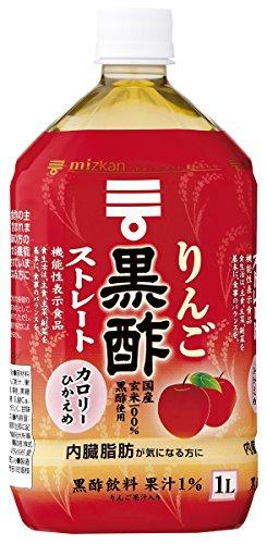 ミツカン りんご黒酢ストレート 1L×12本 PET