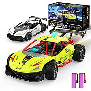 DEERC 287A 2 in 1 Auto-Sensing Remote Control Car, 15KM/H Racing Sport RC Cars with 2 Rechargeable Batteries for 60 Min, 1:20 Scale Vehicle Toy Hobby Car for Kids Teens Adults Gift