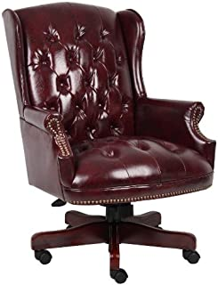 Boss Office Products Wingback Traditional Chair in Burgundy