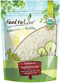 Organic Jasmine Rice by Food to Live (Raw White Rice, Whole Grain, Non-GMO, Kosher, Bulk, Product of the USA) — 3 Pounds