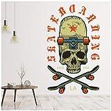 azutura Faire de la Planche à roulettes Skull & Skate Sticker Muraux Disponible en 8...