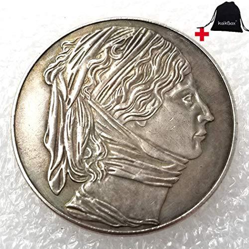FKaiYin 1810–1935 handgeschnitzte große Reichsmark-Münzen, deutsche Münze – Missing History of Preußische Münze – Europäische alte Münze + KaiKBax-Tasche – Lehrwerkzeug für Kinder