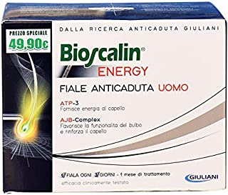 Bioscalin Energy Vials Fall Hair Man 10 Vials - Help To Reactivate The Body'S Keratin - Removes The Deficiency Of Vitamins - Supply Of Nutrients - Antioxidant Properties - Italy