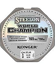 Sedal Konger World Champion recubierto de fluorocarbono, 0,10–0,30mm/150m, monofilamento, muy resistente -