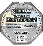 Sedal Konger World Champion recubierto de fluorocarbono, 0,10–0,30mm/150m, monofilamento, muy resistente -, 0,22mm / 150m