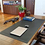 ZSZBACE Desk Pads Artificial Leather Laptop Mat, Perfect Desk Mate for Office and Home, Rectangular, Large (Black)