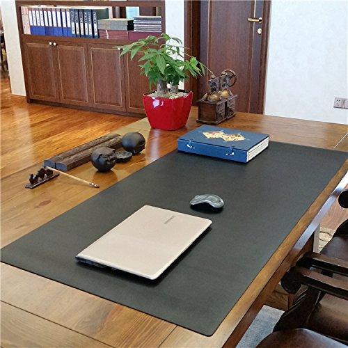 ZSZBACE Scrittoio in Pelle, 27,5 x 17,7  Fornitura Ufficio Scrittoio Protettivo per Desktop e Laptop (Black)
