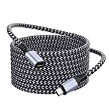 Micro USB Extension Cable, Foinvt Nylon Braided Micro USB Male to Female Extender Power Cord Compatible with WyzeCam Wireless Security Cameras, Arlo Pro, Micro USB Male to Micro USB Female Cable 10FT