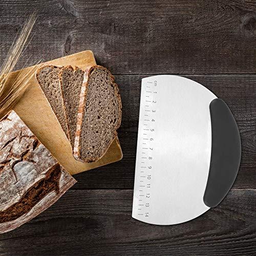 Semiter Raspador de Escala para marcar Pulgadas, raspador, para Cortar Pan de Pasta(Stainless Steel)