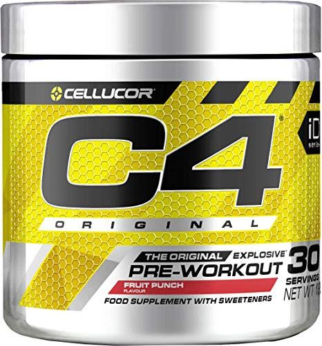 Cellucor C4 Original Explosive Pre-Workout Supplement, Fruit Punch, 30 Servings, 1 Units