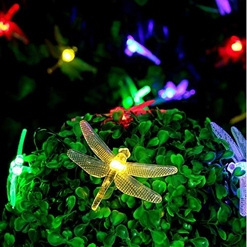'N/A' Color LED Dragonfly Battery Box Leprechaun Light Waterproof Decorative String Lights Garden Sidewalk Driveway Shed Supplies Stairs and Outdoors(Color:Warm White,Size:10m80 Lights)