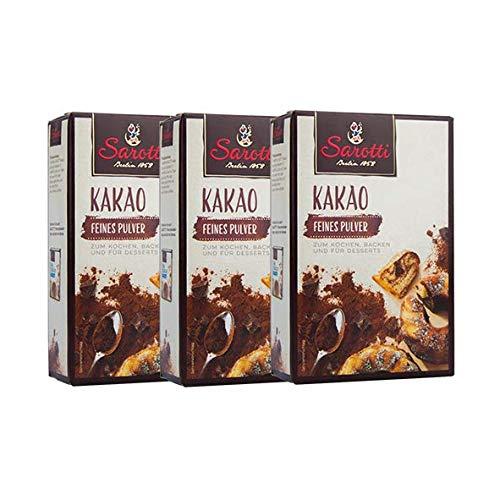 Sarotti KAKAO Feines Pulver 125 g, 3er Pack