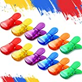 12 Pieces Plastic Magnetic Bag Clips Multi-Purpose Magnetic Clips Wide Classic Bag Clips Colored Magnet Clips for Clamping Bags Documents Supplies, 6 Colors