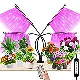 Maxuni Lampe de Plante, 360° Lampe de Croissance à 4 Têtes 80 LEDs Horticole avec Chronométrage et 10 Luminosités 3 Modes, Meilleur pour Plantes Intérieures(4/8/12H)