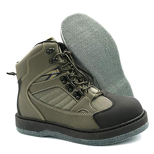 Lurewilder Men's Wading Boots Felt Sole for Fly Fishing Felt Outsole Wading Shoes Fly Fishing Footwear Wading Boots for Men