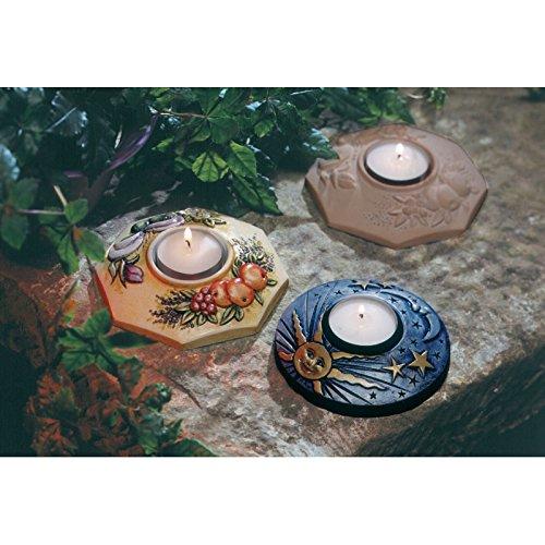 Stampo con 2 FORME PORTACANDELA FORMINE MOLDS per colate di gesso ceramico