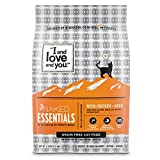 'I and love and you' Naked Essentials Chicken & Duck Grain Free Dry Cat Food, 3.4 Lb, packaging may...