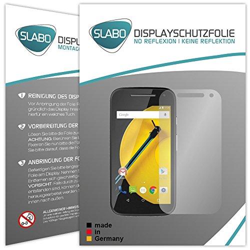 Slabo 4 x Bildschirmschutzfolie für Motorola Moto E 2. Generation Bildschirmfolie Schutzfolie Folie Zubehör No Reflexion MATT