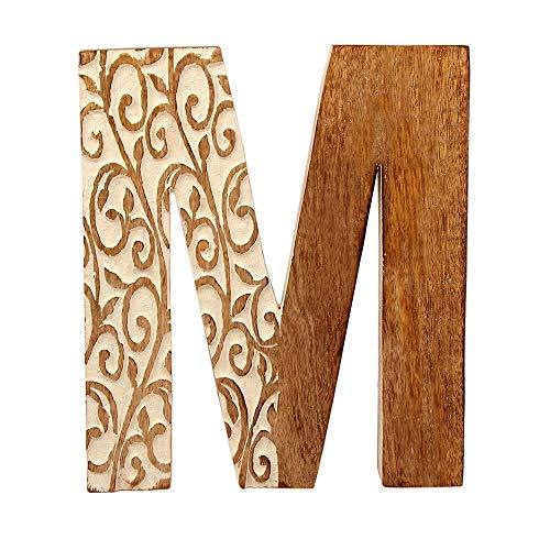 Aheli - Cartel Decorativo de Madera para Pared, diseño de Letras del Alfabeto para niños, Nombre de bebé, niña, hogar, Boda, cumpleaños, decoración M