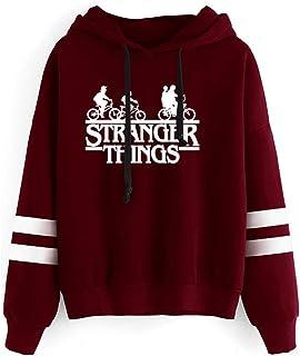 Sudadera Stranger Things Mujer, Sudadera Stranger Things 3 Unisex Hombres Adolescente Sudadera con Capucha Stranger Things...