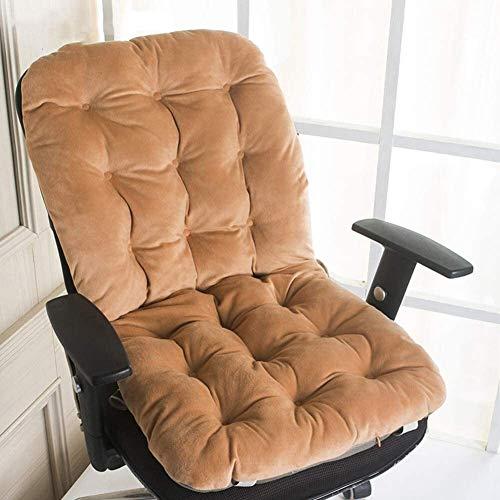 Cojín grueso suave para asiento de comedor con lazos para sillas, cojines de algodón para oficina, hogar o coche, 50 x 110 cm, tamaño: 50 x 110 cm, color: marrón claro