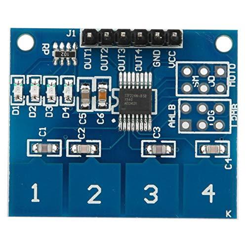 Interruptor de contacto, duradero, de alta precisión, profesional, 5 piezas, 4 canales, módulo de sensor táctil para el hogar, la oficina, la industria