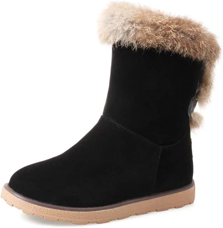 Hy Damen Stiefel Winter Stiefel Wildleder Winter Stiefelies Damen Schnee Stiefel Stiefel Academy Flache beiläufige große Größe Stiefeletten Student Snow Stiefel Stiefel (Farbe   C, Größe   41)  | Moderne Technologie  | Ka