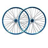 LICHUXIN MTB 26 Pulgadas Bicicleta De Montaña Juego De Ruedas Liberación Rápida Bicicleta Delantera Trasero Ruedas Aleación De Aluminio Pared Doble Borde Freno De Disco 7 8 9 Velocidad