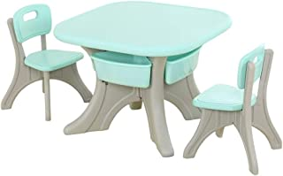 Beautiful Table Chair Set,Cute Trendy Sturdy, Kid Kids Childrens, Mini Furniture, Playing Learning Desk Nursery (color : P...