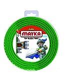 Mayka 34652 - Klebeband für Lego Bausteine, 2 m selbstklebendes Band mit 4 Noppen, grünes...