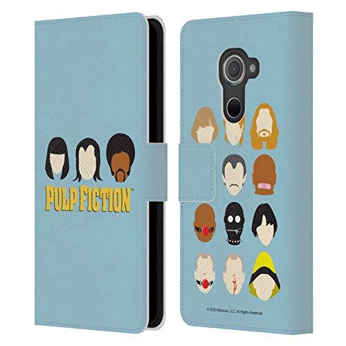 Head Case Designs Licenza Ufficiale Pulp Fiction Facce Arte Cover in Pelle a Portafoglio Compatibile con Blackberry DTEK60