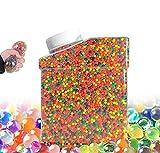 Bolas De Gel De Agua Colores Perlas de Gel para decoración Flores.Plantas Mezclados cristalino Hidrogel Bolas 50000pcs(5 Globos Adicionales Incluidos) (set2) (set2)