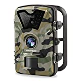 AKASO 12MP Trail Camera Night Vision 1080P Hunting Camera 120 Degree Wide Angle Game Camera with 2.4 inch LCD Wildlife Camera IP66 Waterproof and Dustproof