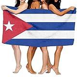 Pads bag Strandtuch, Flagge von Kuba, 203,2 x 330,2 cm, weich, leicht, saugfähig, für Bad, Schwimmbad, Yoga, Pilates, Picknick, Decke