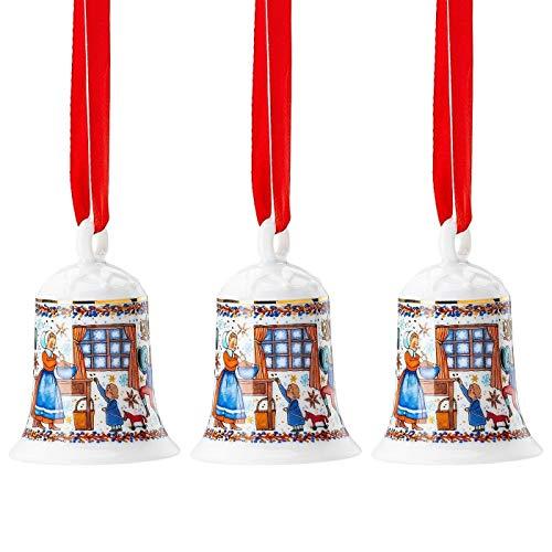 Hutschenreuther 3 x Porzellanglocke Weihnachtsglocke 2020 Weihnachtsbäckerei - 02250-722825-27920 -