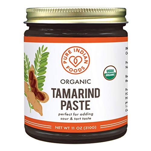 Pure Organic Tamarind Paste Concentrate - Sweet and Sour Sauce for Indian Chutney and Thai curry, Gluten Free, No Sugar Added, Concentrated Paste, Glass Jar (1 PACK)