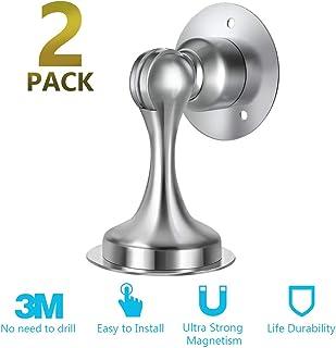 Door Stopper, 2 Pack Magnetic Door Stop, Stainless Steel, Magnetic Door Catch, 3M..