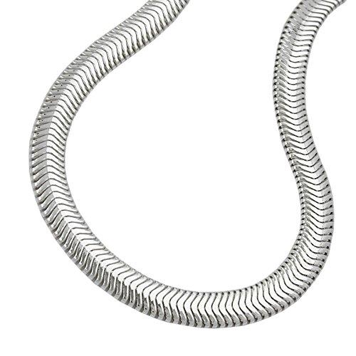 Schlangenkette 45 cm x 4 mm 925 Silber flach Damen Anhängerkette Kette Halskette Silberkette inkl. Schmuckbox