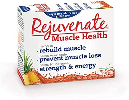 Rejuvenate (Fruit Punch, 30 Servings), Essential Amino Acid Blend, Clinically Proven Muscle Health Supplement, Immune Function