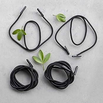Lafuma Lacets élastiques avec embouts pour RSX/RSXA, Kit de 4 lacets, Couleur: Noir, LFM2322-0247