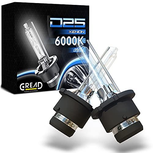 D2S Xenon 6000K 35W de Ampoule Remplacer Xénon (2 lampes) parfaitement ajusté, longue durée de vie blanc