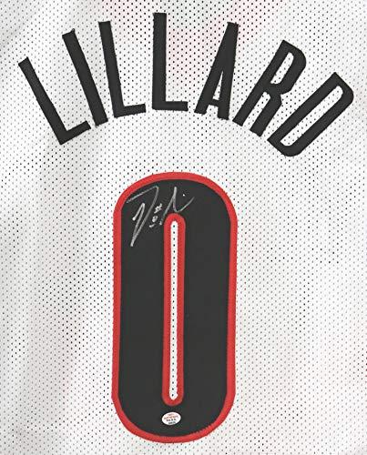 Damian Lillard Portland Trail Blazers Signed Autographed White #0 Custom Jersey PAAS COA